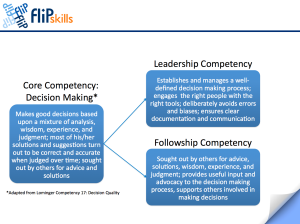 Core Competency - Decision Making