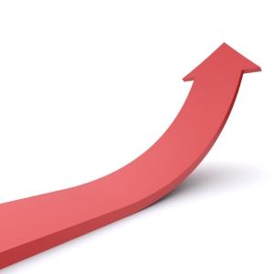 Interest increase arrow